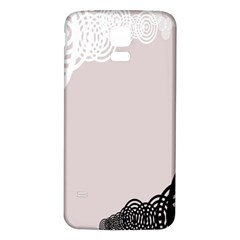 Circles Background Samsung Galaxy S5 Back Case (White)