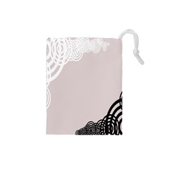 Circles Background Drawstring Pouches (Small)