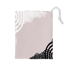 Circles Background Drawstring Pouches (large)