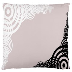 Circles Background Large Flano Cushion Case (two Sides)