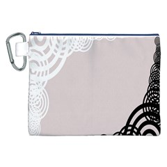 Circles Background Canvas Cosmetic Bag (xxl)