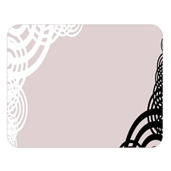 Circles Background Double Sided Flano Blanket (large)