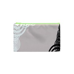 Circles Background Cosmetic Bag (XS)