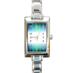 Blue Stripe With Water Droplets Rectangle Italian Charm Watch