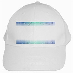 Blue Stripe With Water Droplets White Cap