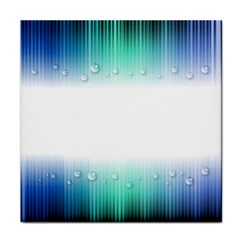 Blue Stripe With Water Droplets Tile Coasters