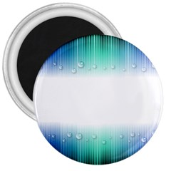 Blue Stripe With Water Droplets 3  Magnets
