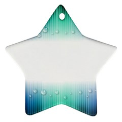 Blue Stripe With Water Droplets Ornament (star)