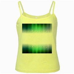 Blue Stripe With Water Droplets Yellow Spaghetti Tank