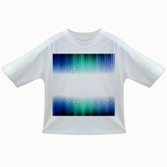 Blue Stripe With Water Droplets Infant/Toddler T-Shirts