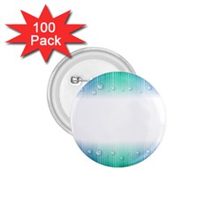 Blue Stripe With Water Droplets 1 75  Buttons (100 Pack)