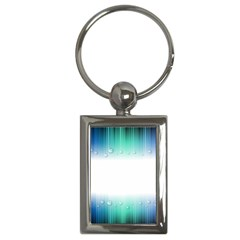 Blue Stripe With Water Droplets Key Chains (Rectangle)