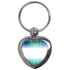 Blue Stripe With Water Droplets Key Chains (Heart)