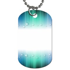 Blue Stripe With Water Droplets Dog Tag (One Side)