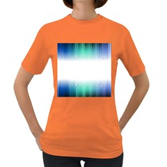 Blue Stripe With Water Droplets Women s Dark T-Shirt