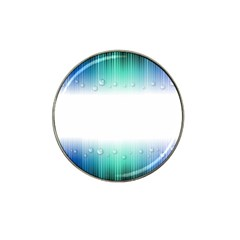 Blue Stripe With Water Droplets Hat Clip Ball Marker