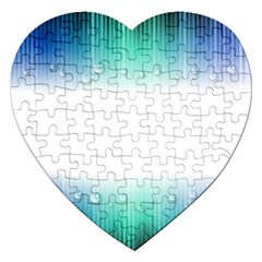 Blue Stripe With Water Droplets Jigsaw Puzzle (Heart)