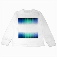 Blue Stripe With Water Droplets Kids Long Sleeve T-Shirts