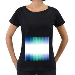 Blue Stripe With Water Droplets Women s Loose Fit T Shirt (black)
