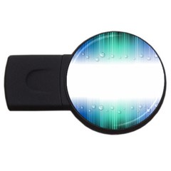 Blue Stripe With Water Droplets USB Flash Drive Round (4 GB)