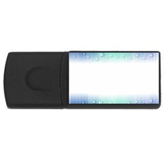 Blue Stripe With Water Droplets USB Flash Drive Rectangular (4 GB)