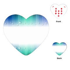 Blue Stripe With Water Droplets Playing Cards (Heart)