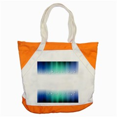 Blue Stripe With Water Droplets Accent Tote Bag