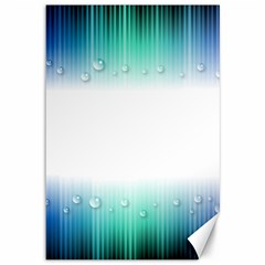 Blue Stripe With Water Droplets Canvas 12  x 18
