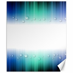 Blue Stripe With Water Droplets Canvas 20  x 24