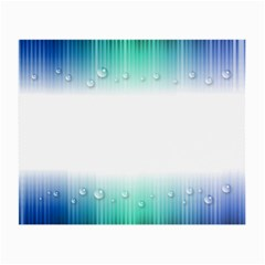 Blue Stripe With Water Droplets Small Glasses Cloth (2 Side)