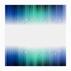 Blue Stripe With Water Droplets Medium Glasses Cloth