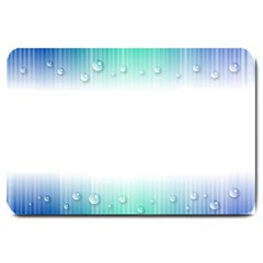 Blue Stripe With Water Droplets Large Doormat