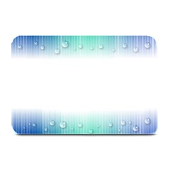 Blue Stripe With Water Droplets Plate Mats