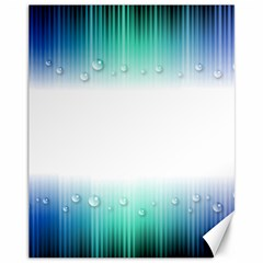 Blue Stripe With Water Droplets Canvas 11  x 14
