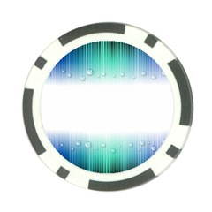 Blue Stripe With Water Droplets Poker Chip Card Guard