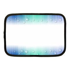 Blue Stripe With Water Droplets Netbook Case (medium)