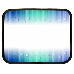 Blue Stripe With Water Droplets Netbook Case (large)