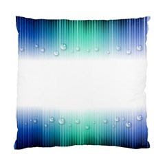 Blue Stripe With Water Droplets Standard Cushion Case (two Sides)