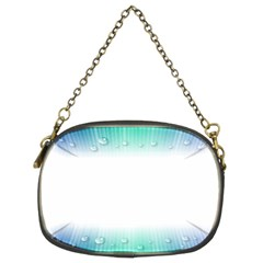 Blue Stripe With Water Droplets Chain Purses (Two Sides)