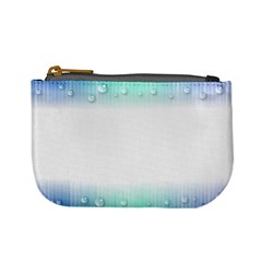 Blue Stripe With Water Droplets Mini Coin Purses