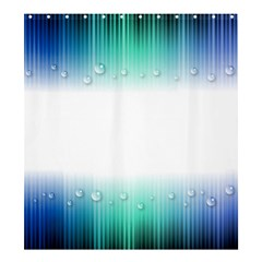 Blue Stripe With Water Droplets Shower Curtain 66  X 72  (large)