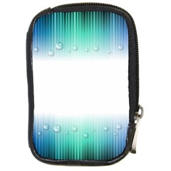 Blue Stripe With Water Droplets Compact Camera Cases