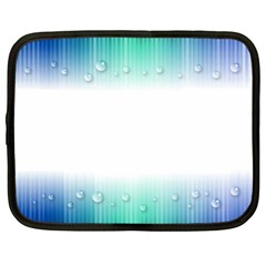 Blue Stripe With Water Droplets Netbook Case (xl)