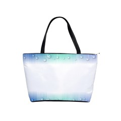 Blue Stripe With Water Droplets Shoulder Handbags
