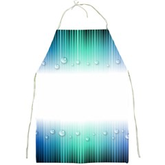 Blue Stripe With Water Droplets Full Print Aprons