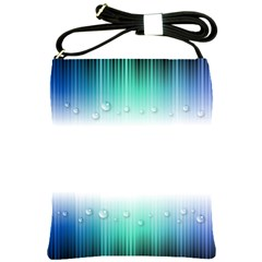 Blue Stripe With Water Droplets Shoulder Sling Bags