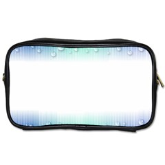 Blue Stripe With Water Droplets Toiletries Bags 2 Side