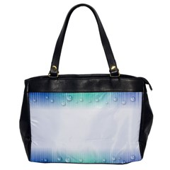 Blue Stripe With Water Droplets Office Handbags