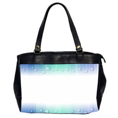 Blue Stripe With Water Droplets Office Handbags (2 Sides)