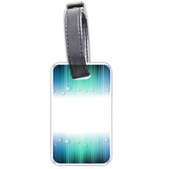 Blue Stripe With Water Droplets Luggage Tags (one Side)